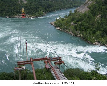 Spanish Aero Car above Niagara whirlpool