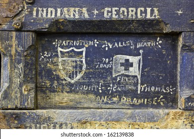 Spanish American War Soldier Box - Antique Foot Locker from the Spanish American War