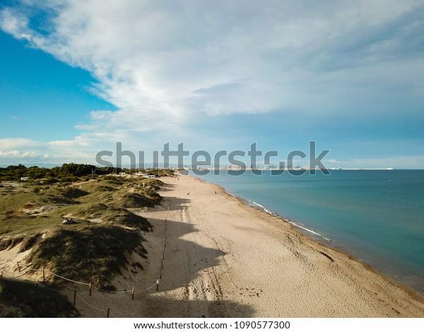 Spanish beach and dunes