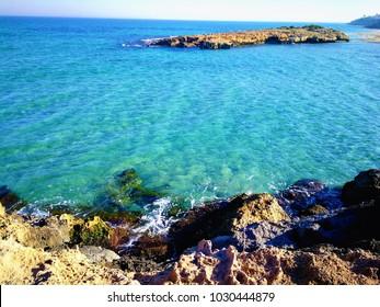 Spanish beach with sea view