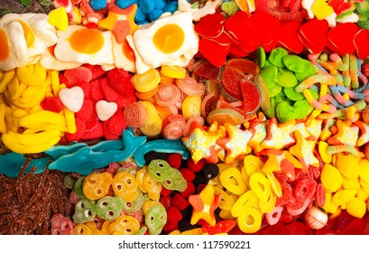 Spanish Candy in the Shape of Different Food Shapes, Barcelona, Spain