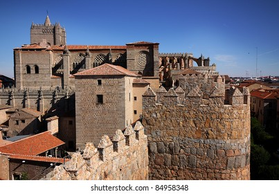 The Spanish city of Avila, UNESCO World Heritage Site, is famous for for having a complete medieval city walls and an outstanding number of romanesque churches.