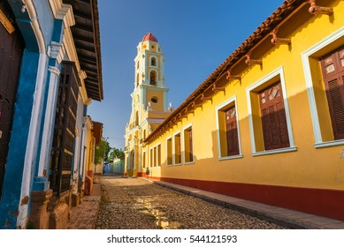 A Spanish colonial church in Trinidad, Cuba.