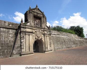 Spanish conquistador citadel Fort Santiago Intramuros district of Manila Philippines