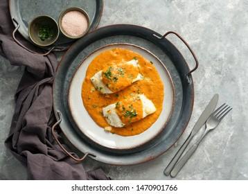 cocina española, Bacalao a la vizcaína, bacalao de estilo vasco