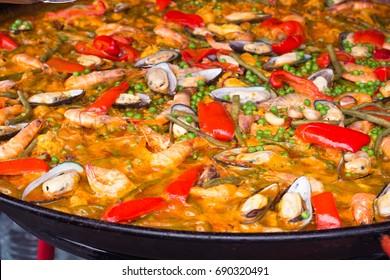 Spanish Cuisine Delicious Paella
