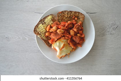 Spanish eggs on toast