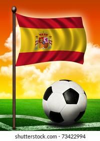 Spanish flag and ball
