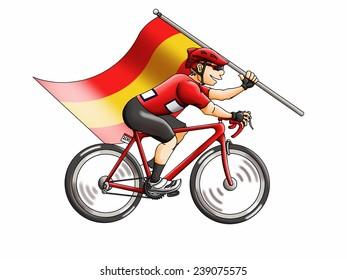 Spanish Flag Cyclist