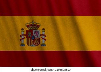 Spanish Flag, with a fabric texture