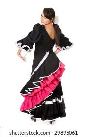 Spanish flamenco dancer in a classical pose