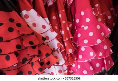 Spanish flamenco dresses