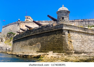 Spanish fortification at the entrance of Havana bay.