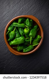 Spanish green peppers, pimiento de padron