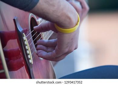 spanish guitar performance at the street