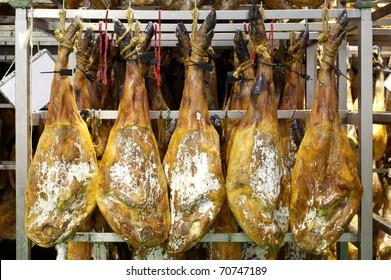 Spanish ham cellar