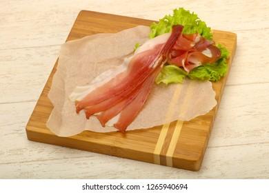 Spanish Hamon with salad leaves