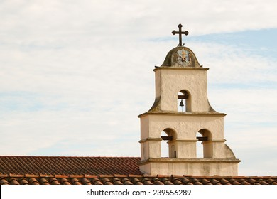 The Spanish historic Santa Barbara Mission in California.
