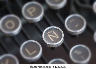 Spanish language symbol of an old typewriter