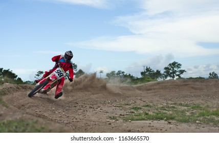 Spanish lookout, Belize August 29, 2018 Royal Gunther taking the speed curve at Arrow Raceway