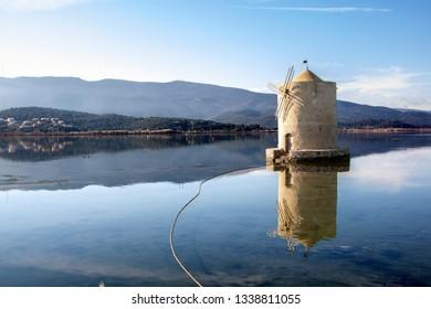 spanish mill in orbetello lagoon, maremma tuscany,Italy