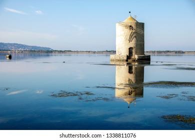 spanish mille in orbetello lagoon, maremma tuscany,Italy