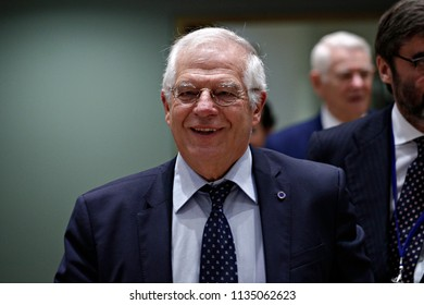 Spanish Minister of Foreign Affairs Josep Borrell attends a European Union foreign ministers meeting in Brussels, Belgium July 16, 2018.