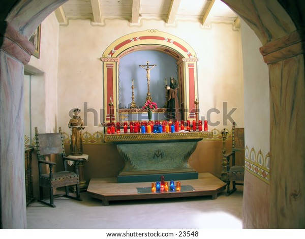 Spanish mission alter
