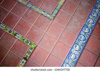 Spanish moroccan pavement tiles