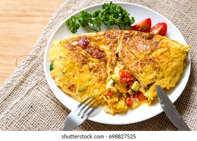 Spanish omelete. Egg dishes.