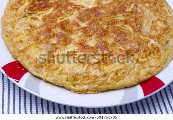 Spanish omlette or tortilla de patatas