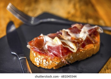 Spanish pintxo or pincho, montadito and tapas, from Basque Country