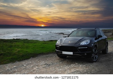 Spanish Point, Co. Clare, Ireland  1/1/2019 featuring the new Porsche Cayenne Turbo 4.8 litre Supercar