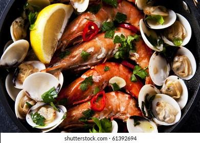 Spanish and Portuguese seafood tapas