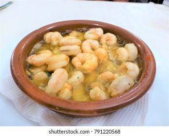 Spanish shrimp ahillo
