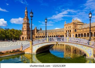 Spanish Square in Sevilla, Spain.