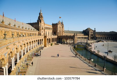 Spanish Square in Seville, Spain