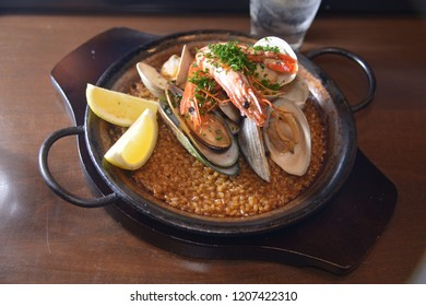 Spanish stew rice with seafood
