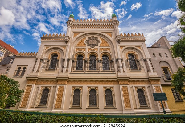 Spanish Synagogue in Prague. It  is is a Moorish Revival synagogue owned by the Jewish Museum of Prague, and is used as a museum and concert hall.