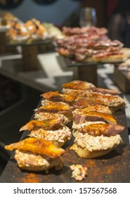 Spanish tapas of octopus with paprica, basque cuisine.