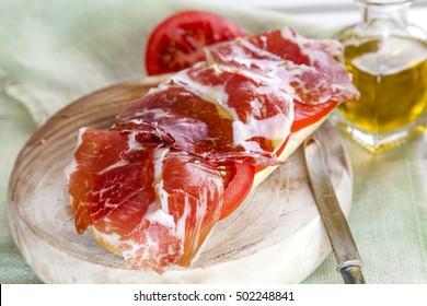 Spanish tapas,iberian loin,sausage