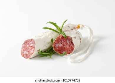 Spanish thin dried sausage of pork meat