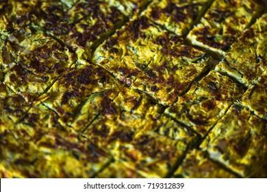 Spanish tortillas close-up
