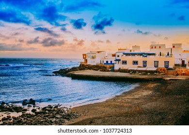 Spanish View Landscape in El Cotillo Fuerteventura Canary Islands Spain