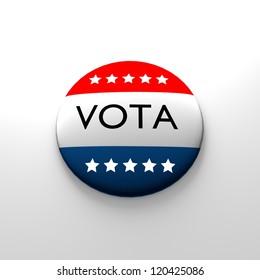 Spanish vote button