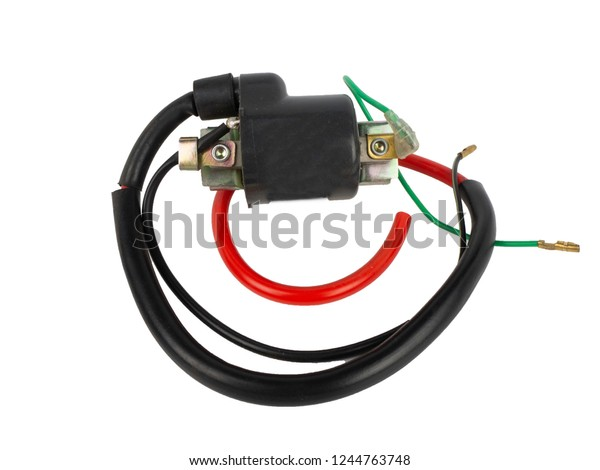 Spare Part Motorcycle Ignition Coil Spark Stock Photo (Edit Now