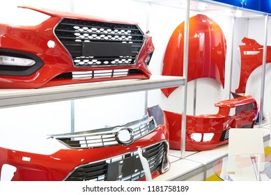 Spare parts for the car body in store