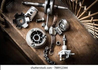 spare parts for a motorcycle