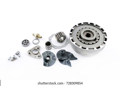 spare parts on a isolated white background