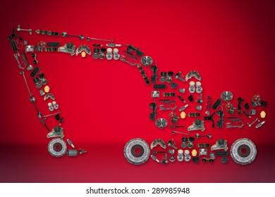 Excavator Spare Part Images, Stock Photos & Vectors | Shutterstock